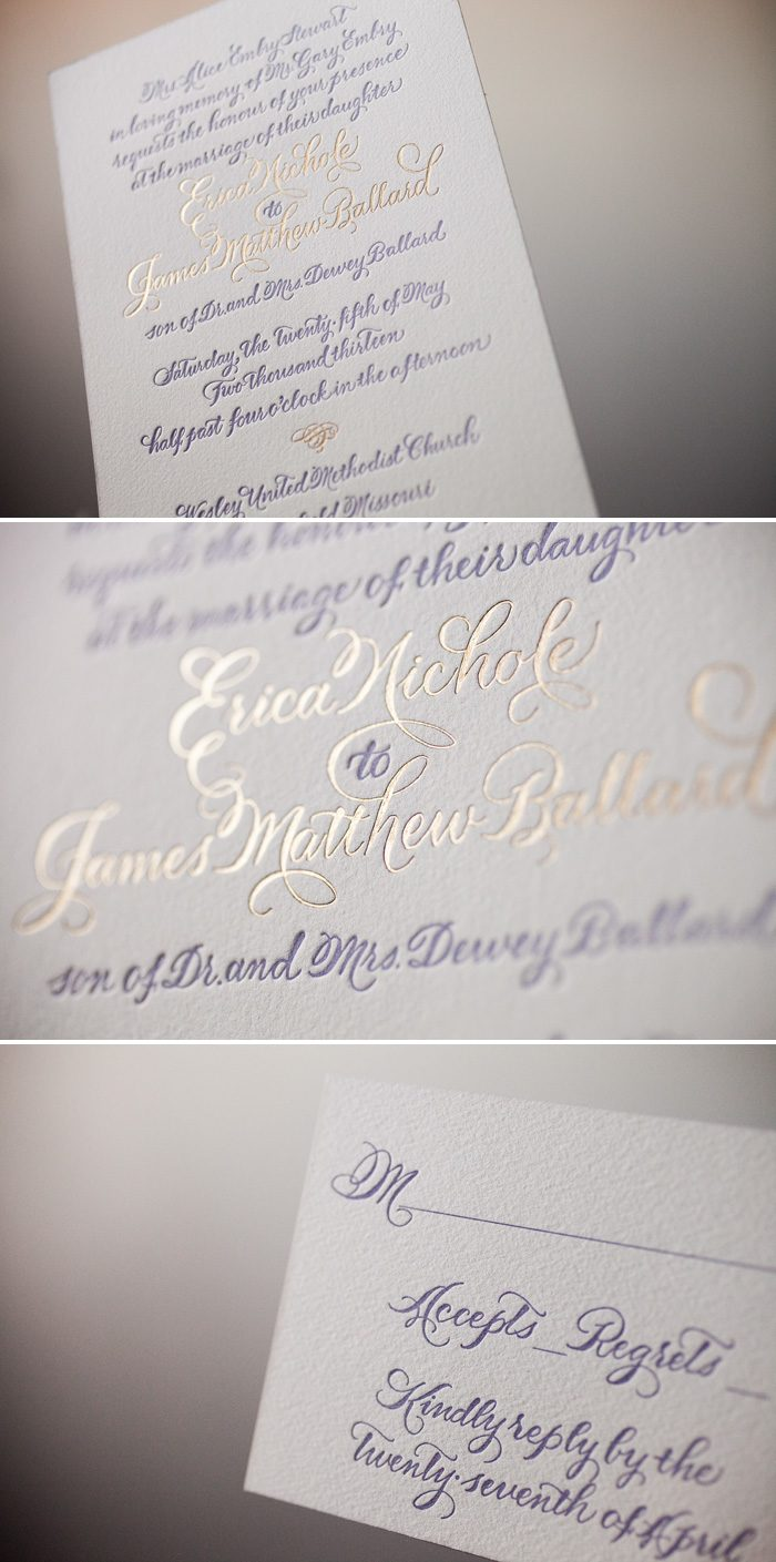 Bella Figura's Elegant Classic Calligraphy Wedding Invitations with hand calligraphy by Debi Zeinert