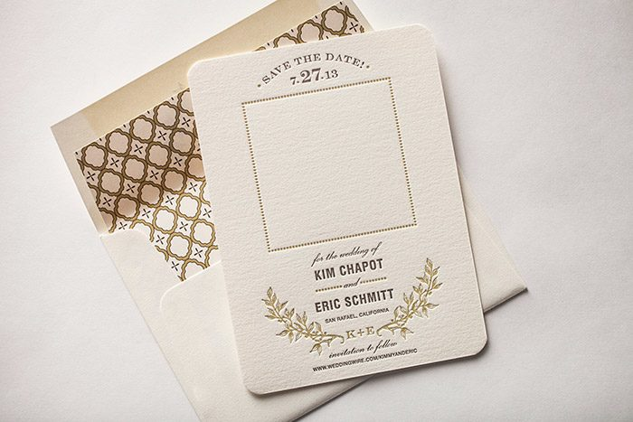 Bella Figura's Rustic Letterpress Save the Dates