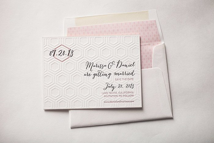 Bella Figura's Custom Letterpress Save the dates