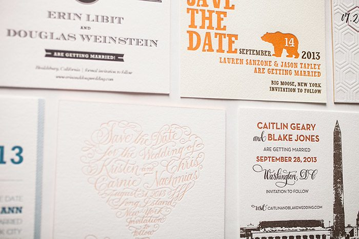 Bella Figura Letterpress Save the dates