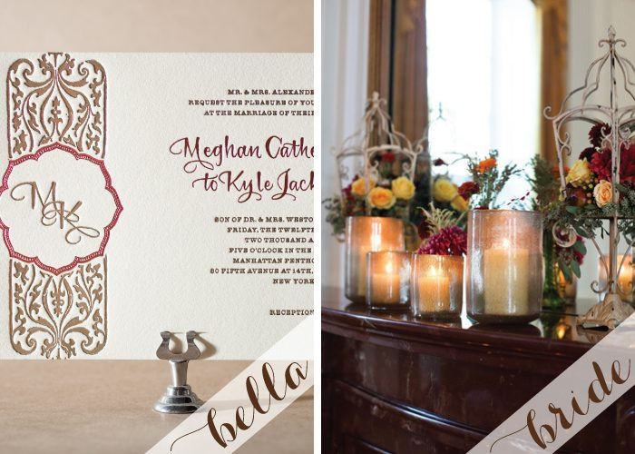 Autumn Wedding Invitations with hand calligraphy by Bella Figura