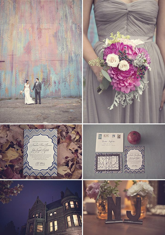 Bella Figura's Darla invitation design is perfect for this modern wedding