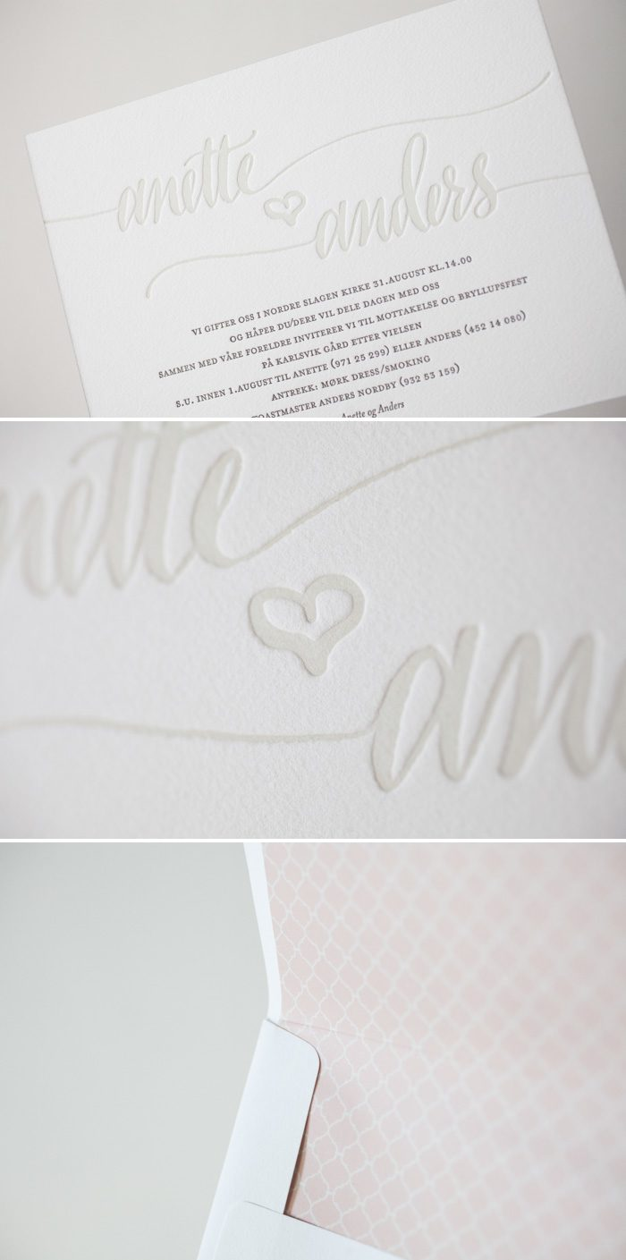 Letterpress hand calligraphy in a soft color palette by Bella Figura