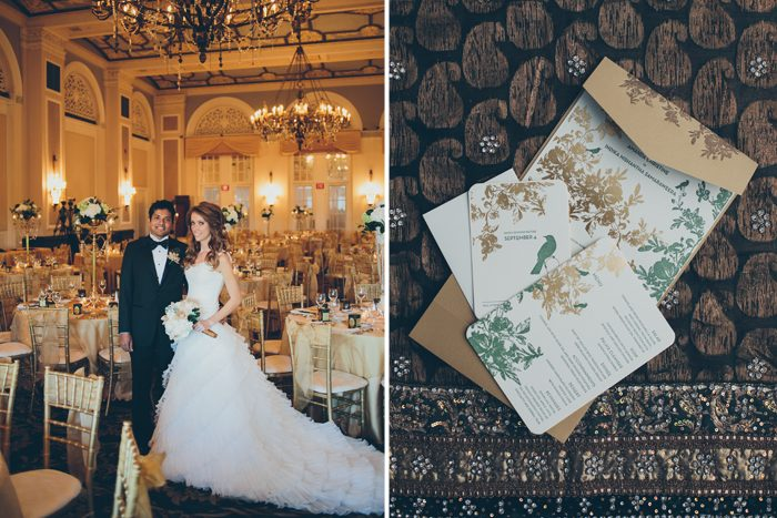 Exotic destination wedding with Bella Figura's letterpress wedding invitations