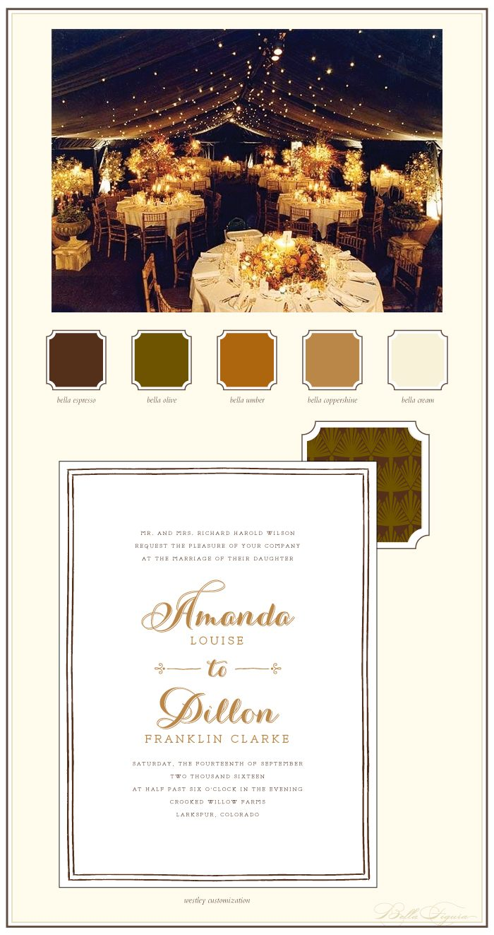 Rustic elegance with shiny copper foil
