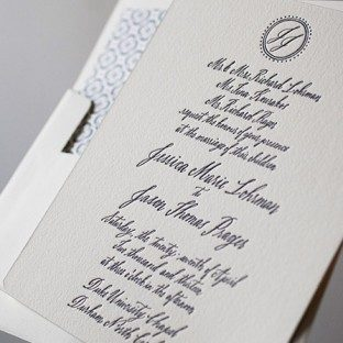 Miranda wedding invitations by Bella Figura