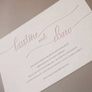 Romantic and elegant wedding invitations from Bella Figura
