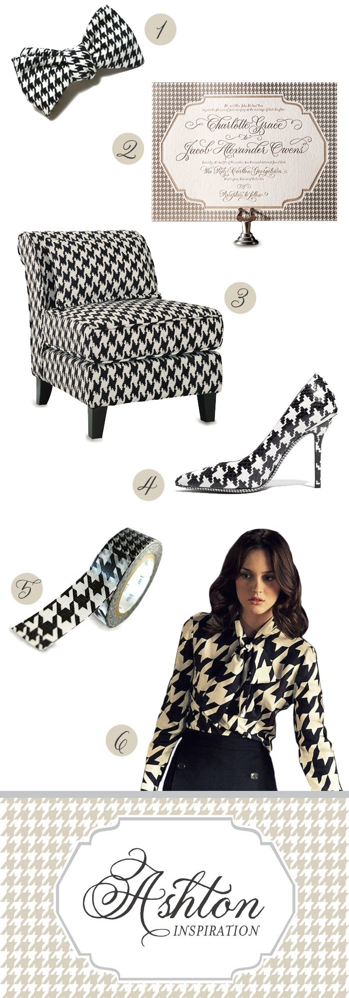 Meet Ashton, a houndstooth inspired design, created by Darcy Sang for Bella Figura