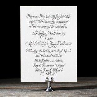 Letterpress Wedding Invitations | Colette Design | Bella ...
