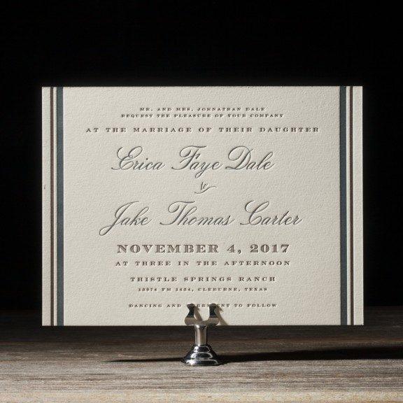 Vintage Wedding Invitations: Abilene From Bella Figura