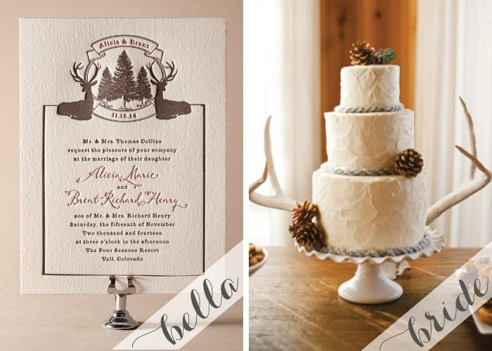 Create the Rustic Winter Wedding look with inspiration by Bella Figura