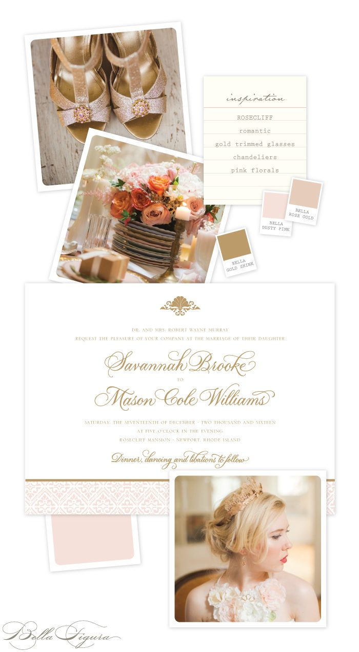 Sweet Romance and Sophistication with our Rosecliff design