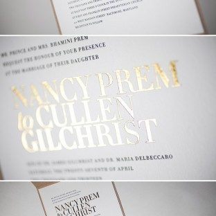 Modern Irving wedding invitations by Bella Figura