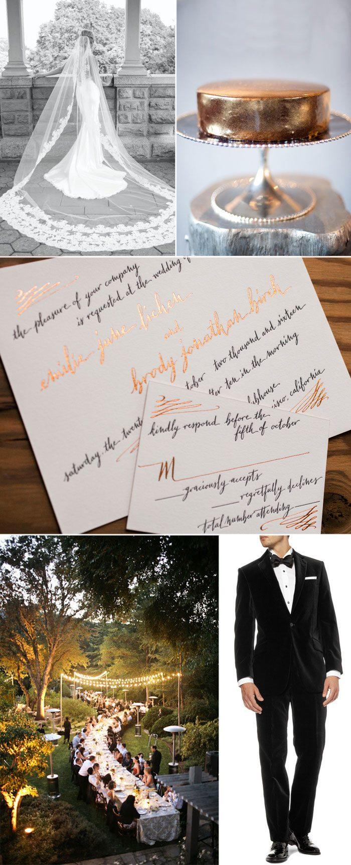 Bella Figura\'s Gracieux calligraphy wedding invitations on sale now