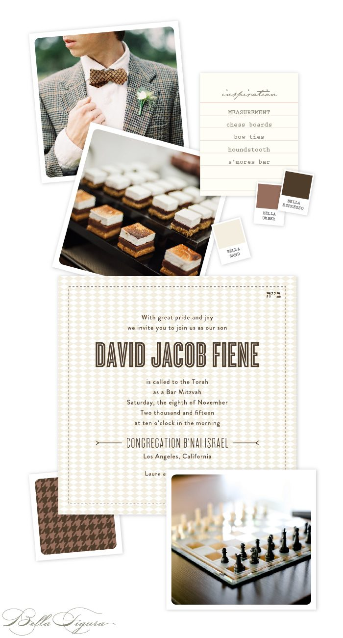 Letterpress Invitations for a Sophisticated Bar Mitzvah