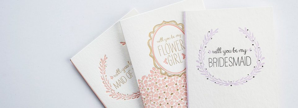 Smock letterpress cards and wedding essentials
