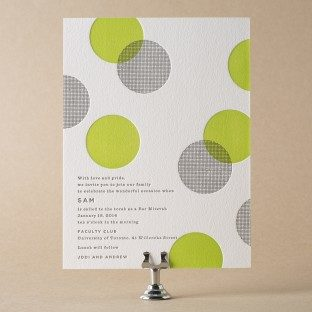 Polka Stripe Bar Mitzvah Invitations by Bella Figura