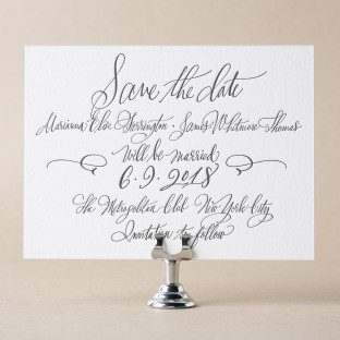 Belperron letterpress + calligraphy save the dates from Bella Figura