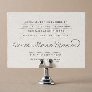 Charlotte Letterpress Reception Cards From Bella Figura
