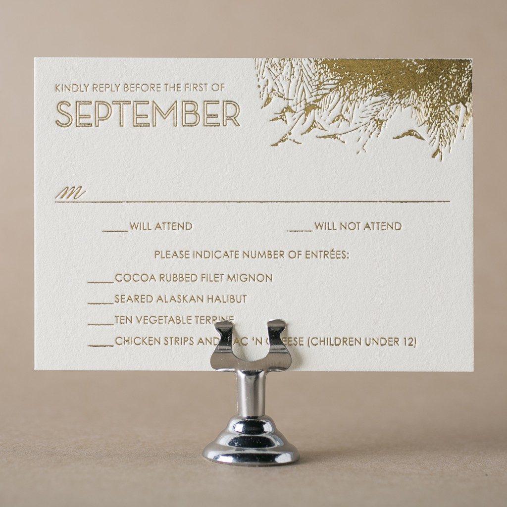 Letterpress response cards – Wedding Invite Response Card