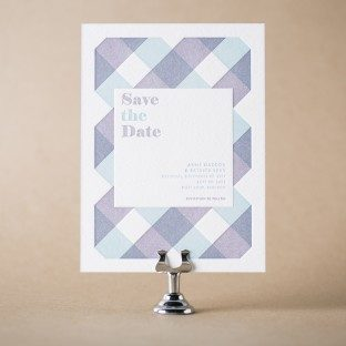 Clarus letterpress save the dates from Bella Figura