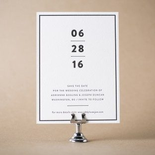 Duncan letterpress save the dates from Bella Figura
