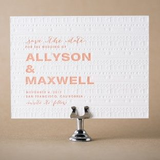Ellipse letterpress save the dates from Bella Figura
