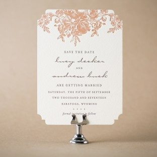 Faunus letterpress save the dates from Bella Figura