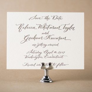 Hayden calligraphy save the dates from Bella Figura