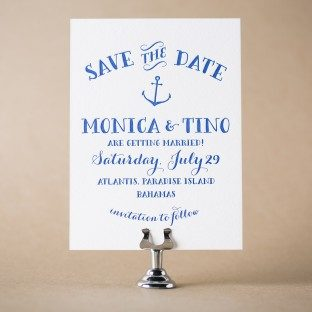 Nassau letterpress save the dates from Bella Figura