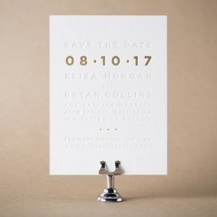 Parker foil stamped save the dates from Bella Figura