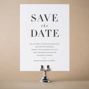 Roosevelt letterpress save the dates from Bella Figura