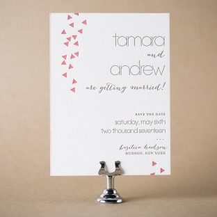 Tamara Modern letterpress save the dates from Bella Figura