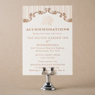 A Bientot Accommodations Card by Bella Figura
