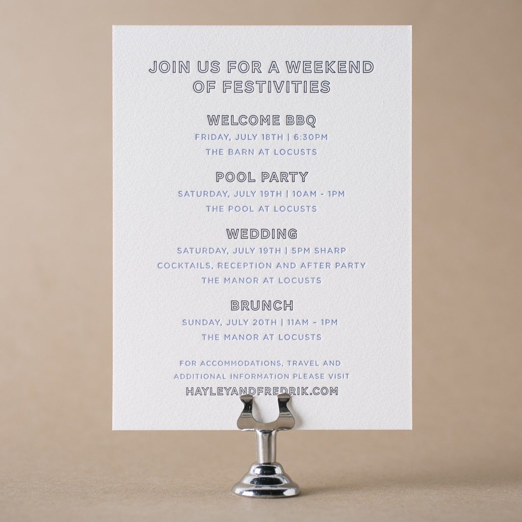 Wedding Welcome Dinner Invitation Wording: Letterpress Wedding Events Cards For Wedding Invitations