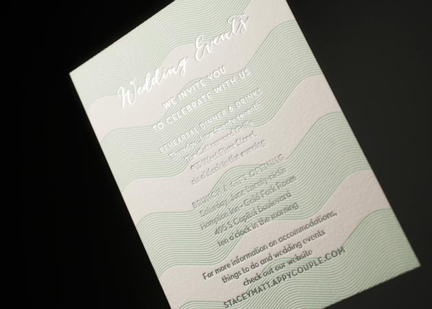 Wedding Festival Invitations: Letterpress Wedding Events Cards For Wedding Invitations