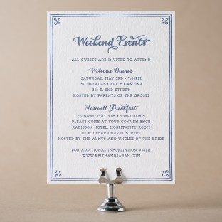 Westley Events card | Bella Figura