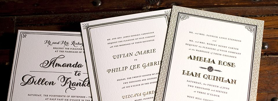 Wedding invitation etiquette advice by Bella Figura