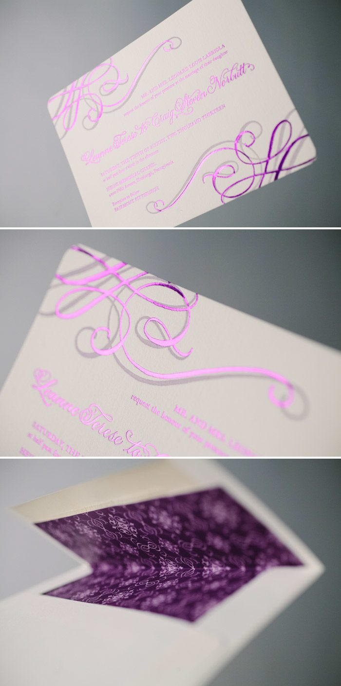 Purple Shine and Hand Calligraphy on Illuminer by Bella Figura