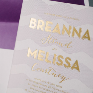 Viceroy letterpress wedding invitations