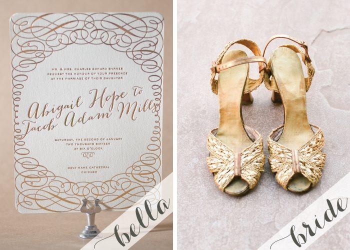 Luxe Gold Wedding Inspiration with Bella Figura invitations