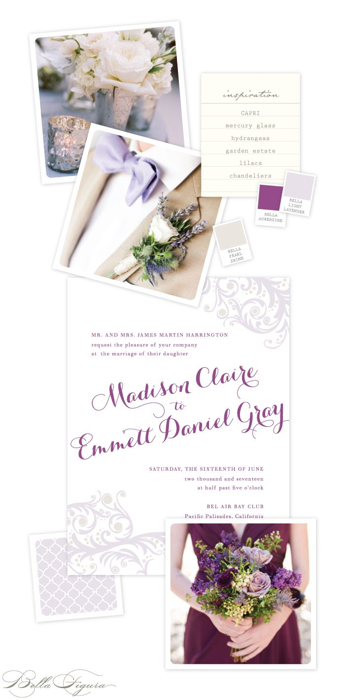Capri wedding invitation ideas from Bella Figura