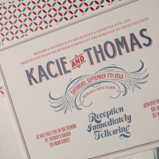 Tara letterpress wedding invitations