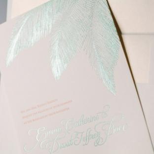 Traditional Palm beach wedding invitations