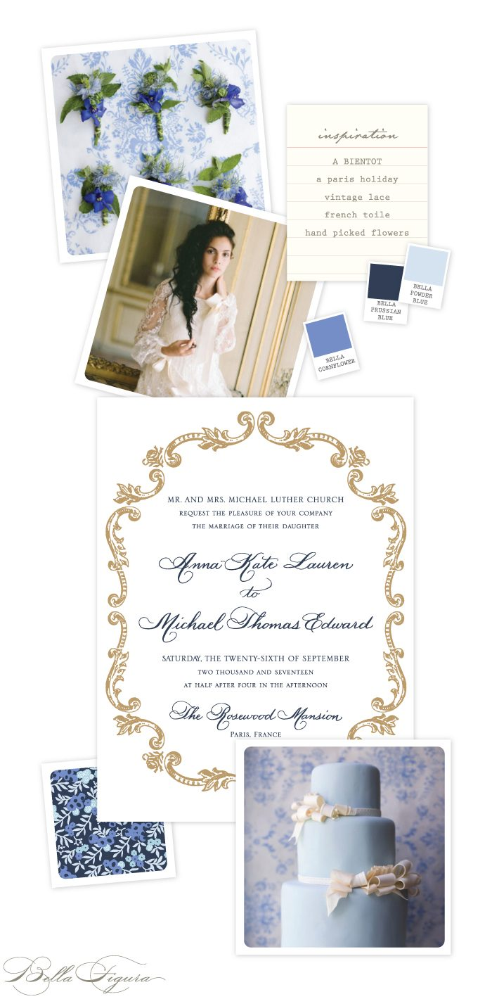 A Bientot French wedding invitation inspiration from Bella Figura
