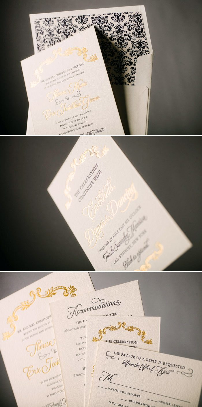Classic + Formal A Bientot Wedding Invitations by Bella Figura