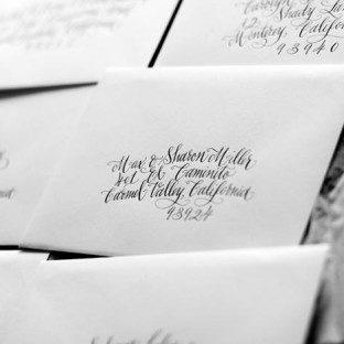 Hand calligraphed envelopes from Bella Figura calligrapher Kelle McCarter