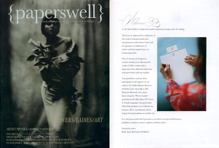 Bella Figura designer + calligrapher Kelle McCarter recently launched the 3rd issue of her magazine, Paperswell