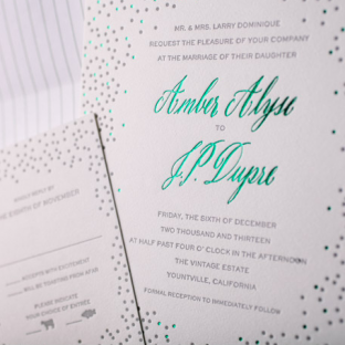 Joie de Vivre wedding invitations