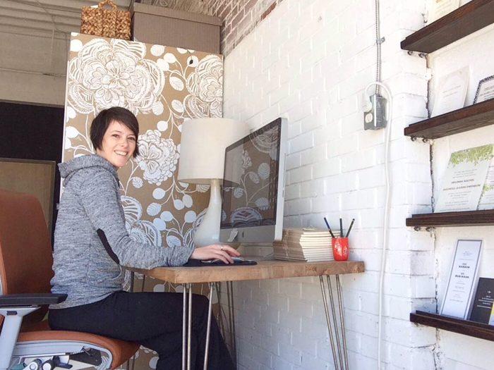 Bella Figura + Hello Tenfold Designer Ellie Snow in her studio